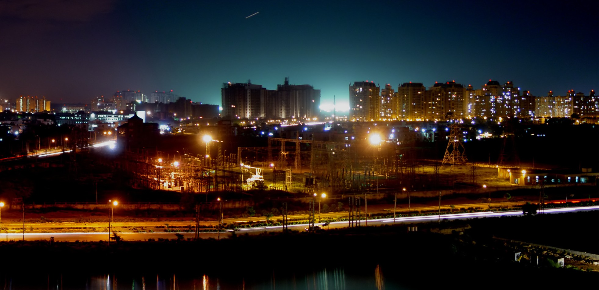 Gurgaon night skyline